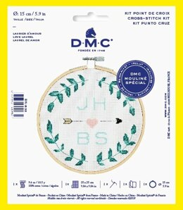 "DMC Love Laurel (with 6"" hoop) Cross Stitch Kit - 25cm x 25cm"