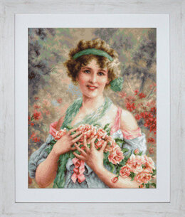 Luca-S The Girl with Roses Petit Point Tapestry Kit - Multi