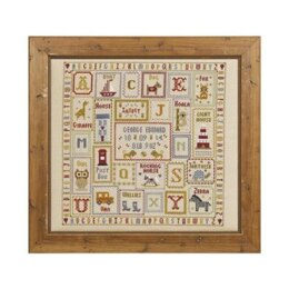 Historical Sampler Company K is for Koala Birth Sampler Cross Stitch Kit - 16ct Aida