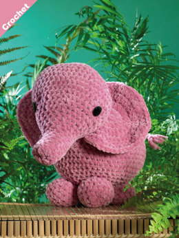 Ellie the Elephant Toy in James C. Brett Flutterby Chunky - JB403