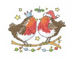 Heritage Christmas Kiss Cross Stitch Kit - 12cm x 10cm