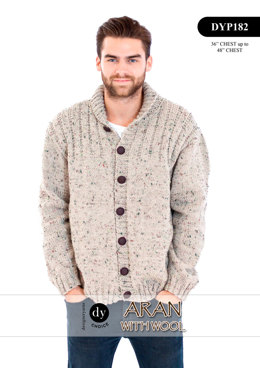 Cardigan in DY Choice Aran With Wool Tweed - DYP182