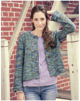 Normandy Jacket in Manos del Uruguay Silk Blend Space-Dyed - 2010H