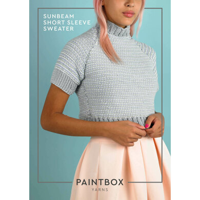 Sunbeam Short Sleeve Jumper : Jumper Knitting Pattern in Paintbox Yarns Aran Yarn