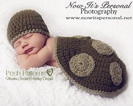 Little Turtle Prop Set Crochet Pattern 160
