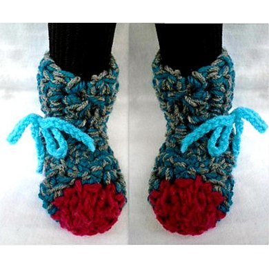 859 Turquoise Tall Slippers