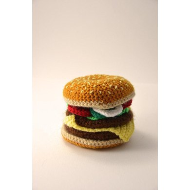 Hamburger Crochet Pattern, Hamburger Amigurumi, Cheeseburger Crochet Pattern, Cheeseburger Amigurumi