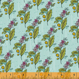 Windham Fabrics Bubbies Buttons & Blooms - Olive's  Turquoise