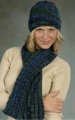 Ribs Amp Ridges Hat And Scarf In Plymouth Yarn Baby Alpaca
