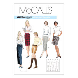 McCall's Misses' Skirts In 5 Lengths M3830 - Sewing Pattern
