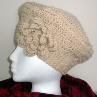 Spider Web Beret with Flower