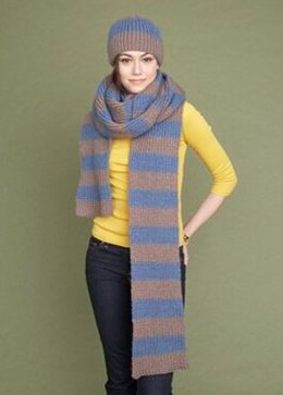Hat and Scarf Set in Lion Brand Jiffy - 70065A