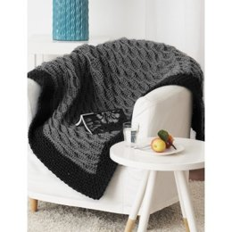Quick & Easy Blanket in Bernat Chunky - Downloadable PDF