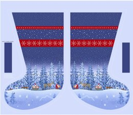"Lewis & Irene Totem's Christmas Panel - Stocking Panel (36""x44"")"