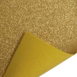 Trimits Glitter Felt Roll - 1m x45cm - Gold