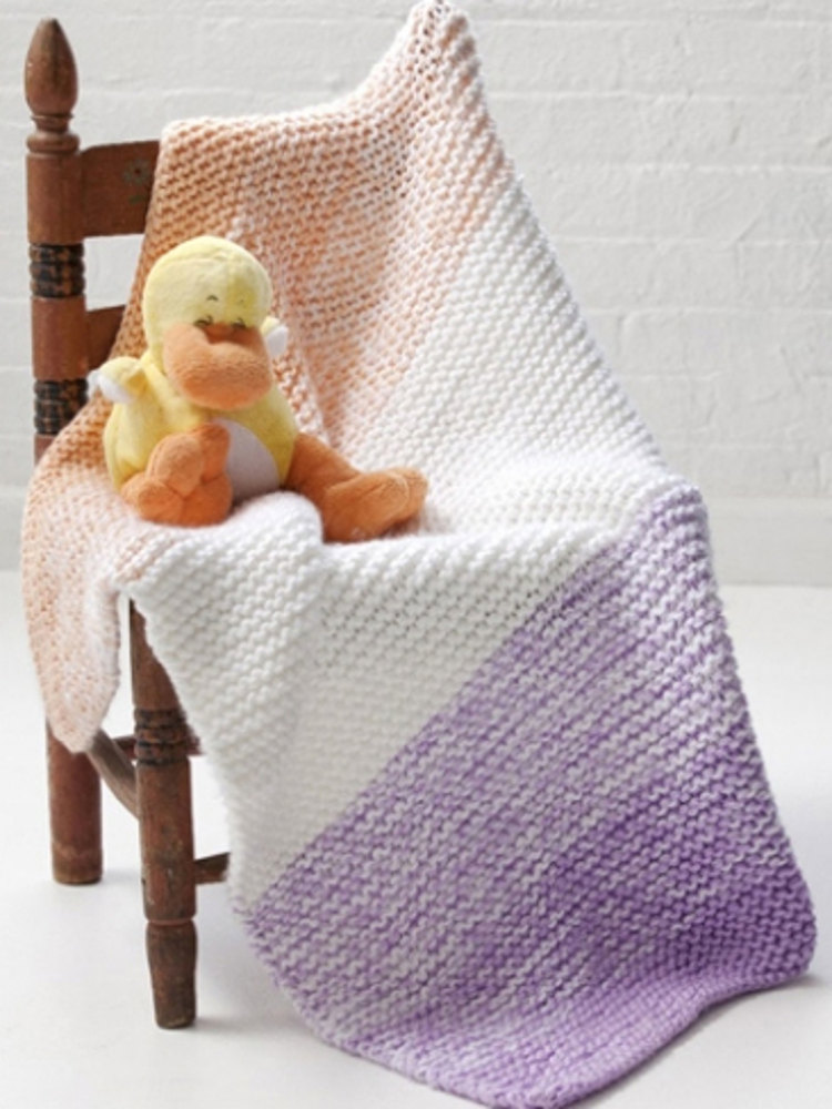 Soft N Simple Baby Blanket In Caron Simply Soft