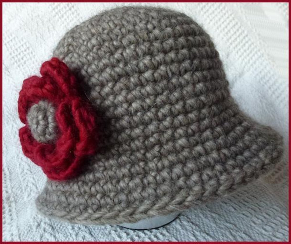 Crochet Cloche Hat Crochet pattern by Marilyn Lambert 8eb2a11f0f6