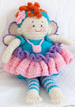 Tooth Fairy Doll in Red Heart Soft Solids - LW2562