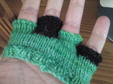 Proefhandje breien - How to knit a test-hand for gloves