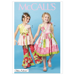 McCall's Children's/Girls' Top, Dress and Pants M6497 - Sewing Pattern