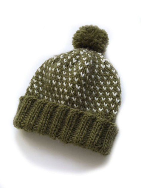 Chance of Flurries Hat in Lion Brand Alpine Wool - 90178AD Knitting Pattern...