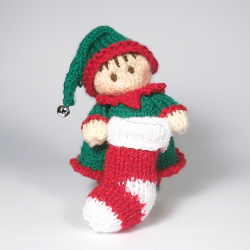 Elf Knitting Hearts : Girl elf bitsy baby knitting pattern by claire fairall