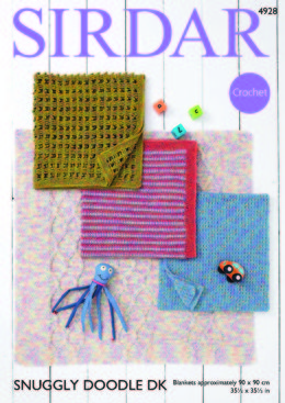 Blankets in Sirdar Snuggly Doodle DK - 4928 - Downloadable PDF