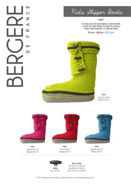 Kids Slipper Boots in Bergere de France Ideal