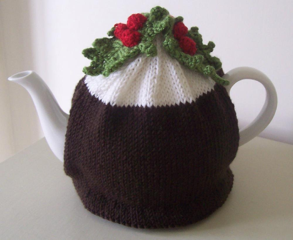 Christmas Pudding Tea Cosy Knitting Crochet pattern by Buzybee Knitting Pat...