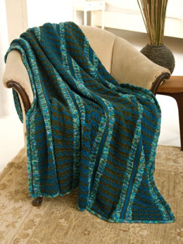 Rivers To Ocean Afghan in Caron Simply Soft & Simply Soft Paints - Downloadable PDF