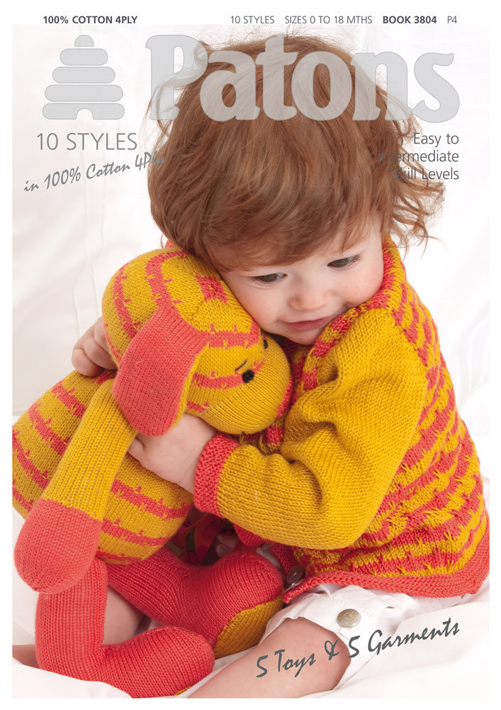 Toys & Garments Book by Patons - 3804