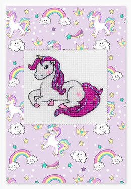 Luca-S Postcard Unicorn Cross Stitch Kit