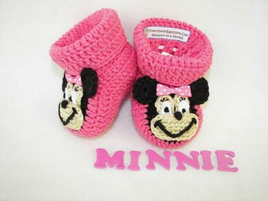 Minnie Mouse Baby Booties