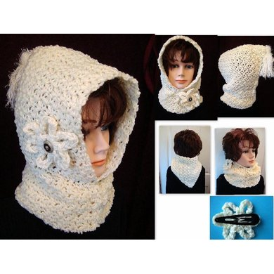 609 CROCHET HOOD, Pebble stitch, children, adult