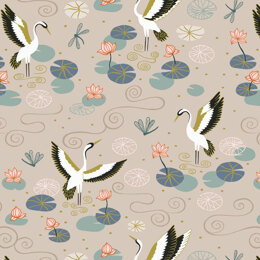 Lewis & Irene Jardin De Lis  - Natural heron lake with gold metallic