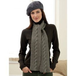 Cable Scarf in Bernat Satin