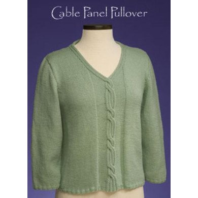 Cable Panel Pullover #158