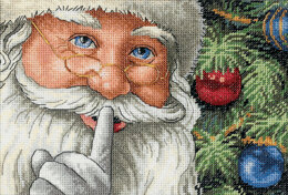 Dimensions Santa's Secret Cross Stitch Kit - 18cm x 13cm