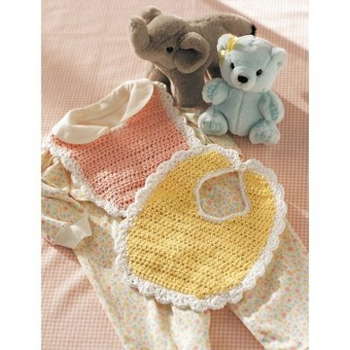 Baby Bib In Lily Sugar And Cream Solids Crochet Patterns Lovecrochet
