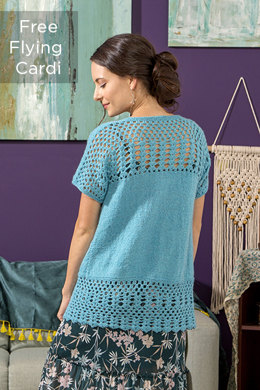Free Flying Cardigan in Universal Yarn Finn - Downloadable PDF