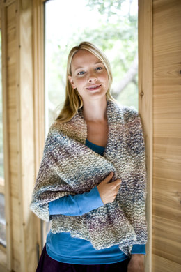 Heartfelt Shawl in Lion Brand Homespun - 81040AD