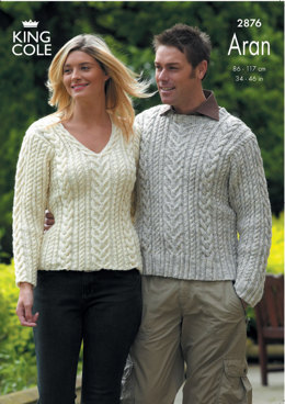 Sweaters Knitted in King Cole Fashion Aran - 2876