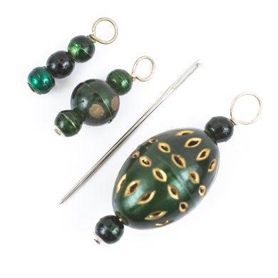 Knit Pro Zooni Stitch Markers in Coloured Beads