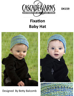 Baby Hat in Cascade Fixation Spray Dyed - DK159
