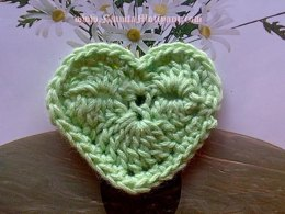Valentine Heart Crochet Applique Pattern Unique & Easy