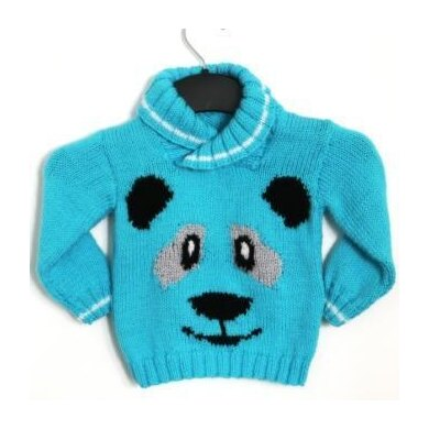 Panda Face Sweater