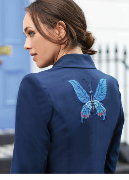 5TH Avenue - Butterfly Blazer and clutch bag in Anchor - Downloadable PDF