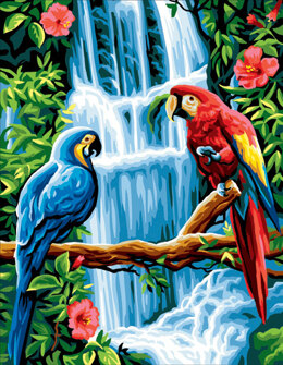 Royal Paris Macaws Tapestry Canvas -