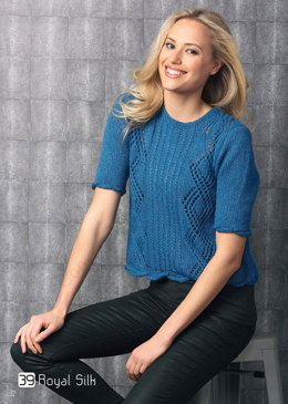 Short Sleeve Sweater in Katia Royal Silk