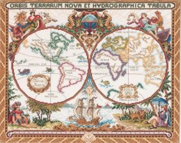 Janlynn Corporation Olde World Map Cross Stitch Kit